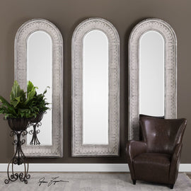 Argenton Aged Gray Arch Mirror - Classy Mirrors