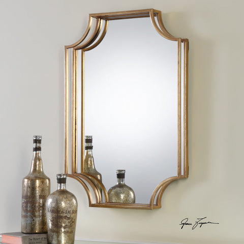 "Lindee Mirror 30""x20""x3"" Gold Mirrors Uttermost"