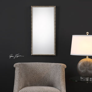 Serna Antiqued Silver Mirror Transitional Wall Mirrors Uttermost