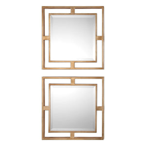 "Allick Squares, Set of Two Mirrors 18""x18""x3"" Uttermost"