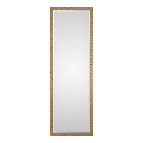 "Vilmos Metallic Gold Mirror 24""x72""x1"" Metal Mirrors Uttermost"