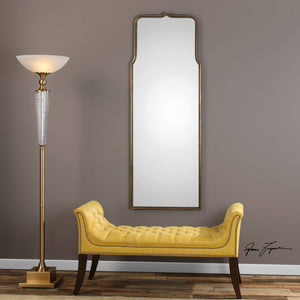Adelia Antiqued Gold Mirror Metal Mirrors Uttermost