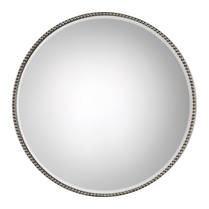 Stefania Beaded Round Mirror