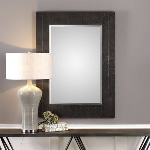"Caprione Oxidized Dark Copper Mirror 35""x47""x2"" Bronze Mirrors Uttermost"