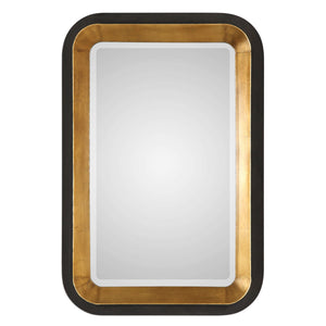 Niva Metallic Gold Wall Mirror Bathroom Mirrors Uttermost