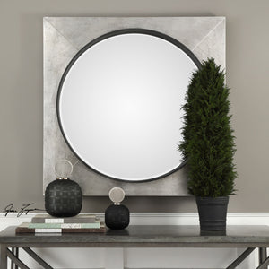 "Solomon Metallic Silver Mirror 40""x40""x4"" Decorative Mirrors Uttermost"