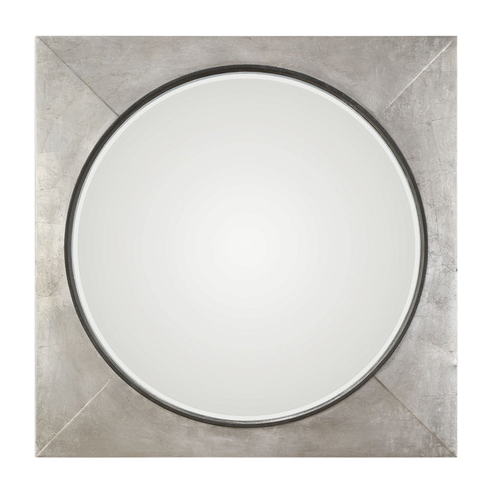 "Solomon Metallic Silver Mirror 40""x40""x4"""