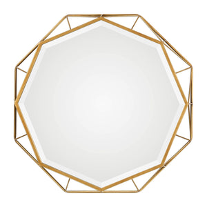 "Mekhi Antiqued Gold Mirror 30""x30""x4"" Decorative Mirrors Uttermost"
