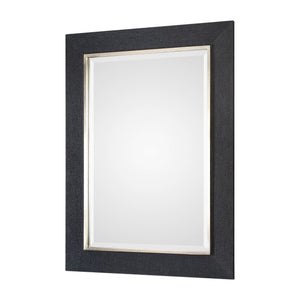 "Kaira Textured Black Mirror 34""x46""x1"" Contemporary Mirrors Uttermost"