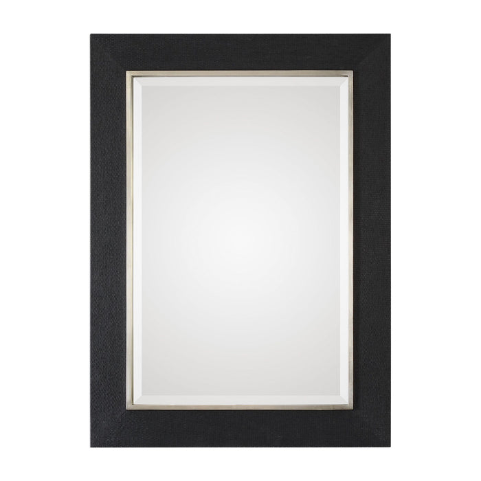 "Kaira Textured Black Mirror 34""x46""x1"""
