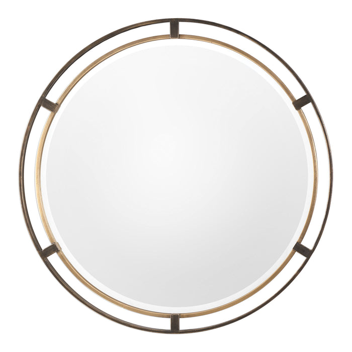 Carrizo Bronze Round Mirror
