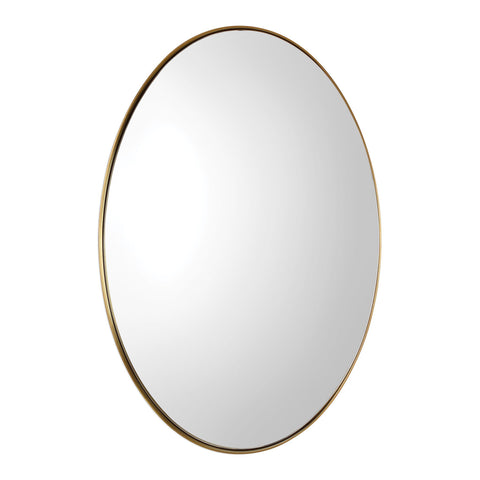 Pursley Brass Oval Mirror Oval Mirrors Uttermost