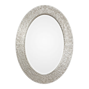 Conder Oval Silver Mirror Oval Mirrors Uttermost