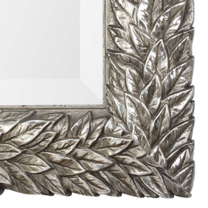"Evelina Silver Leaves Mirror 25""x35""x1"" Decorative Mirrors Uttermost"