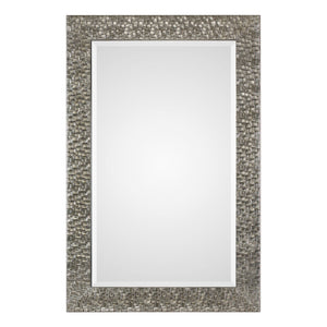 Kanuti Metallic Gray Mirror Transitional Wall Mirrors Uttermost