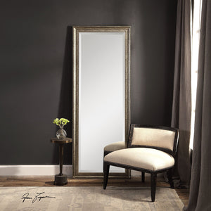 Aaleah Burnished Silver Mirror Large Mirrors and Leaner Mirrors Uttermost