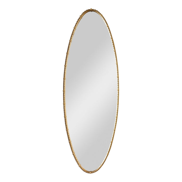 Hadea Tall Gold Oval Mirror