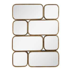 Canute Modern Gold Mirror Decorative Mirrors Uttermost