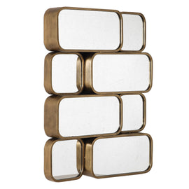 Canute Modern Gold Mirror - Classy Mirrors