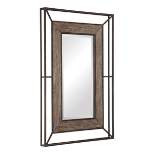 Ward Open Framed Wood Mirror Transitional Wall Mirrors Uttermost