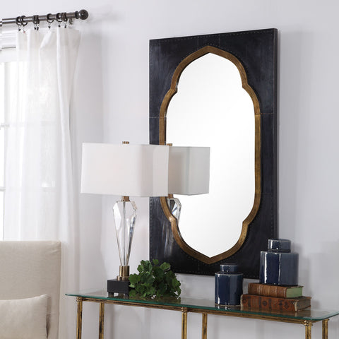 Shanti Moroccan Bronze Mirror Transitional Wall Mirrors Uttermost