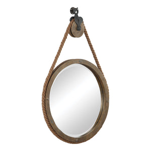 Melton Round Pulley Mirror Rustic Mirrors Uttermost