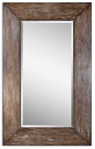 "Langford Large Wood Mirror 51""x81""x2"" Rustic Mirrors Uttermost"
