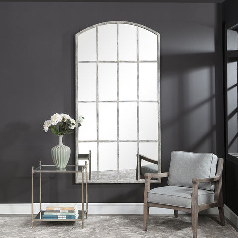 Amiel Ivory Arched Mirror Uttermost