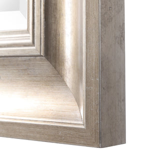 Palia Silver Leaf Wall Mirror