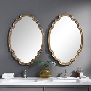 Ariane Gold Oval Mirror Classy Mirrors