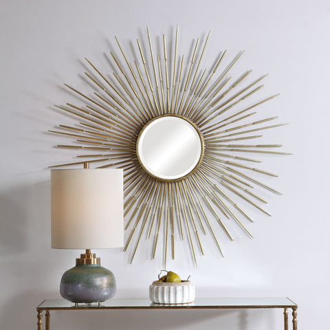 Golden Rays Starburst Mirror Uttermost