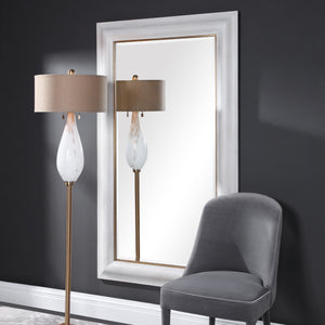 Piper Large White Mirror Uttermost