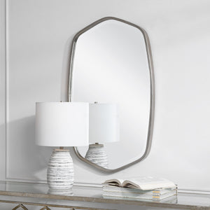 Duronia Brushed Silver Mirror Uttermost