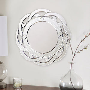 Knapp Round Contemporary Venetian Mirror Frameless Mirrors Howard Elliott