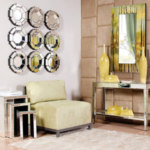 Charisma Octagonal Mirror Contemporary Mirrors Howard Elliott