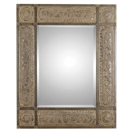 "Harvest Serenity Champagne Gold Mirror 50""x 60"" - Classy Mirrors"