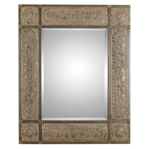 "Harvest Serenity Champagne Gold Mirror 50""x 60"" Transitional Wall Mirrors Uttermost"