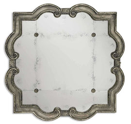 "Risca Small Antiqued Mirror 36""x36""x2"" - Classy Mirrors"