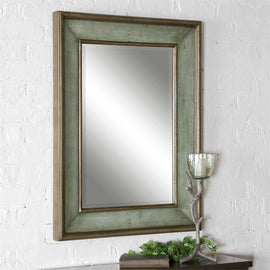 "Ogden Antique Light Blue Mirror 27""x37"" - Classy Mirrors"