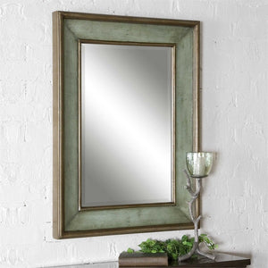 Ogden Antique Light Blue Mirror Transitional Wall Mirrors Uttermost