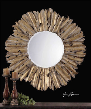 Emani Hand Forged Antique Gold Mirror Gold Mirrors Uttermost