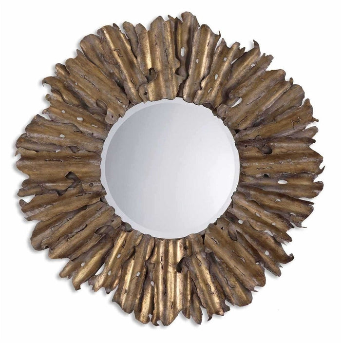 Emani Hand Forged Antique Gold Mirror