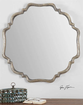 Valentia Silver Mirror Decorative Mirrors Uttermost