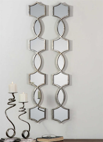 "Vizela Decorative Mirrors 6""x45""x1"" Set of Two - Classy Mirrors"