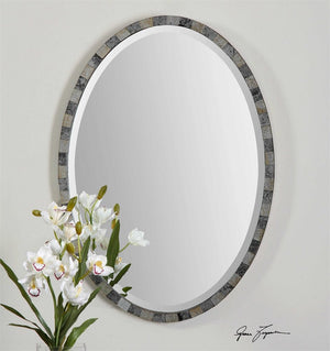 "Paredes Oval Mirror 21""x29""x1"" Bathroom Mirrors Uttermost"