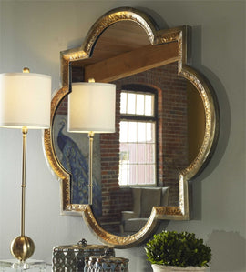 Lourosa Shaped Mirror Decorative Mirrors Uttermost