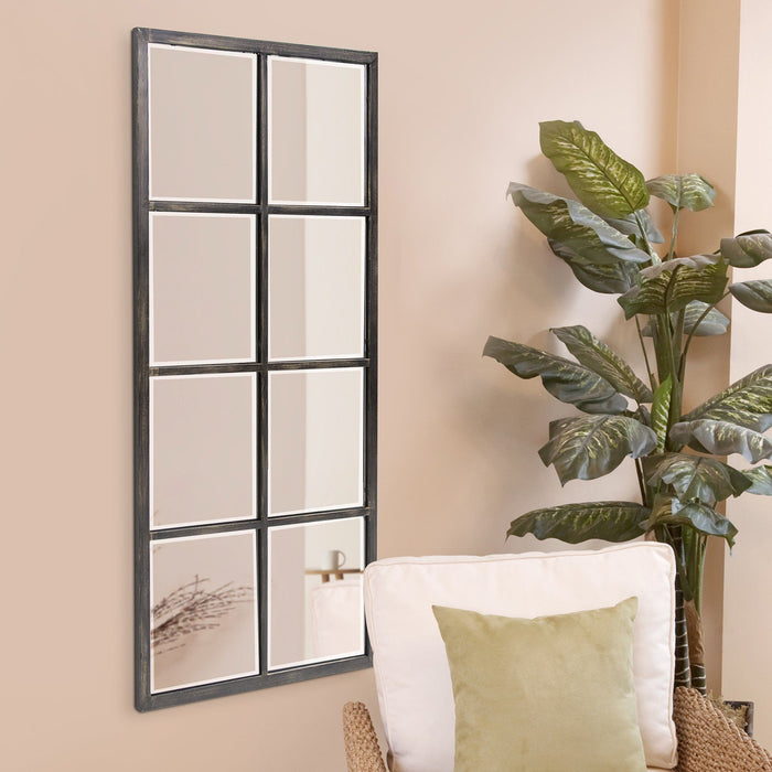Atrium Oil Rubbed Bronze Windowpane Mirror