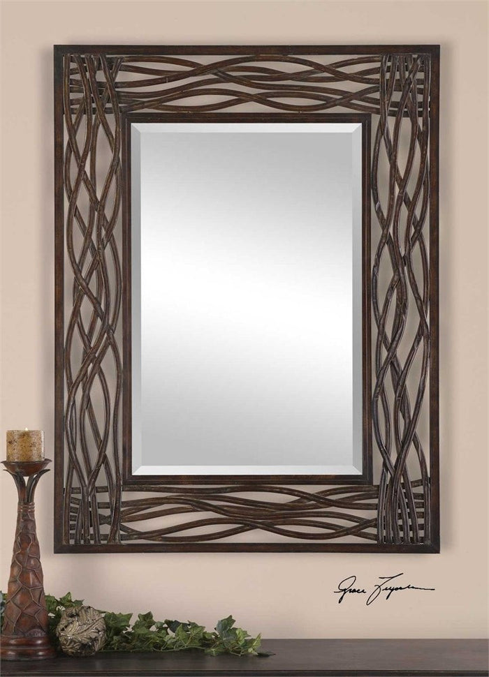 Dori Hand Forged Metal Mirror
