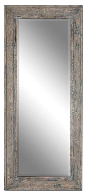 Missoula Slate Blue Rustic Mirror Large Mirrors and Leaner Mirrors Uttermost