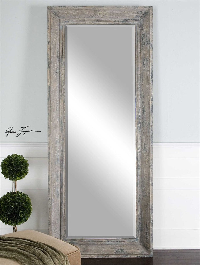 Missoula Slate Blue Rustic Mirror